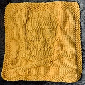 Hand-knitted Skull Dish Cloth/towels